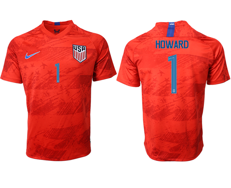 2019-20 USA 1 HOWARD Away Thailand Soccer Jersey