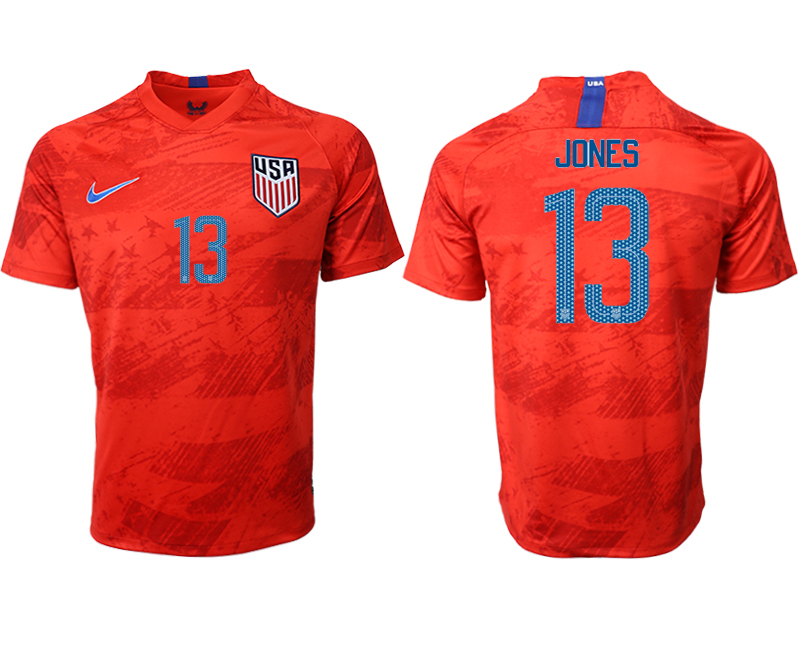 2019-20 USA 13 JONES Away Thailand Soccer Jersey