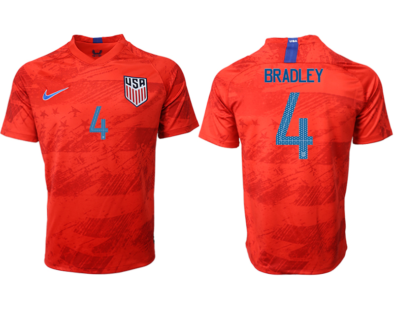 2019-20 USA 4 BRADLEY Away Thailand Soccer Jersey
