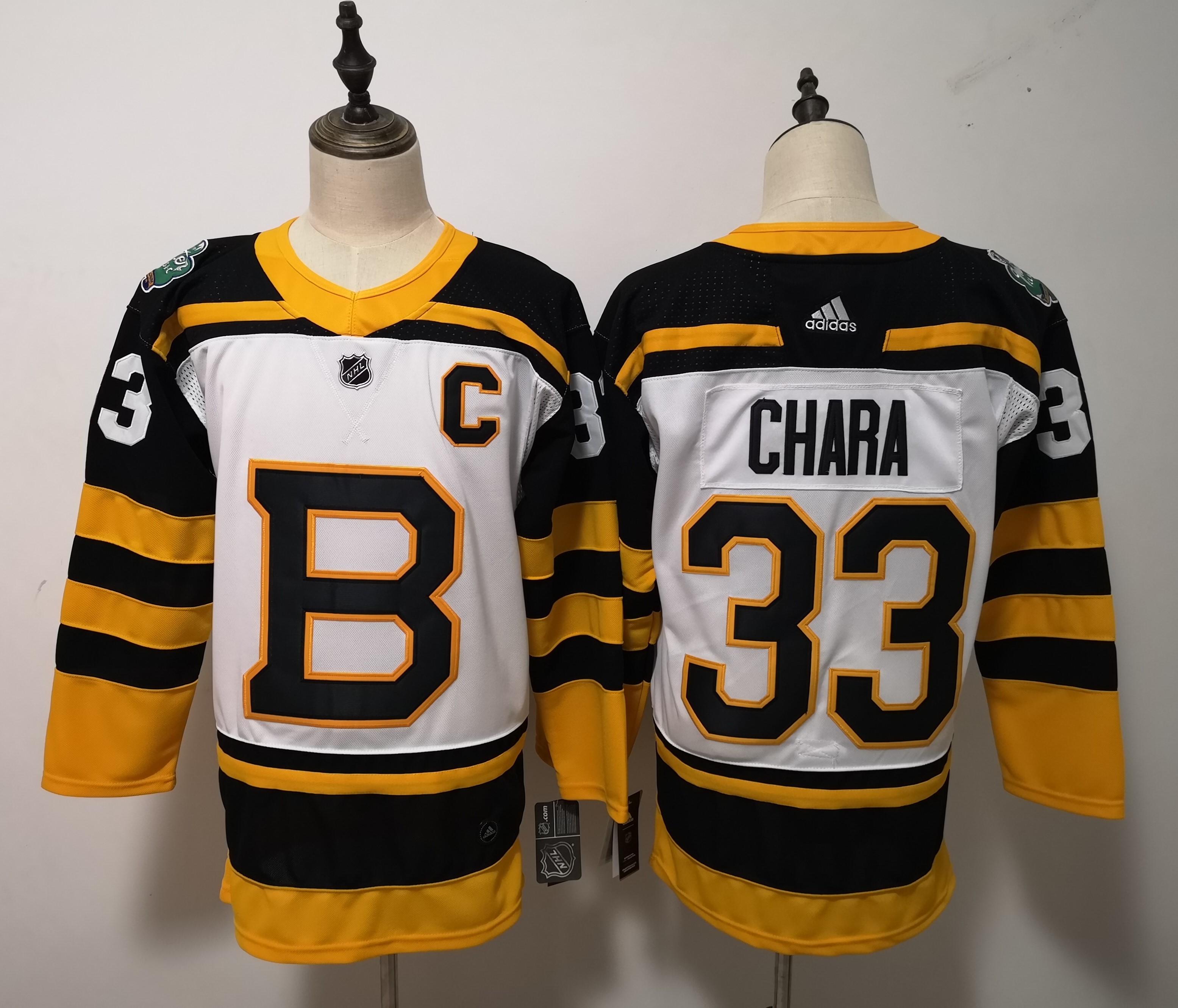 Bruins 33 Zdeno Chara White 2019 Winter Classic Adidas Jersey