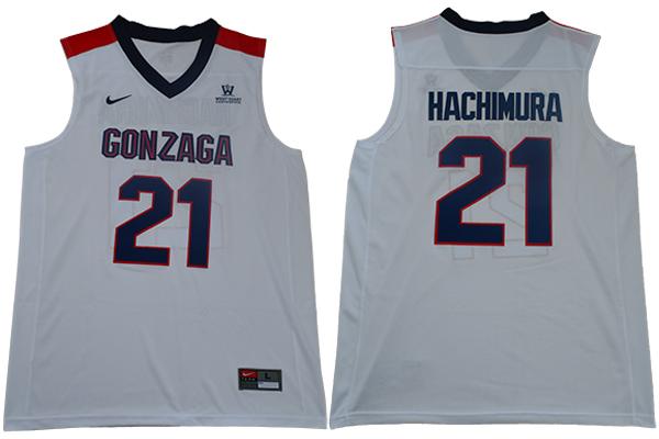 Gonzaga Bulldogs 21 Rui Hachimura White College Basketball Jersey