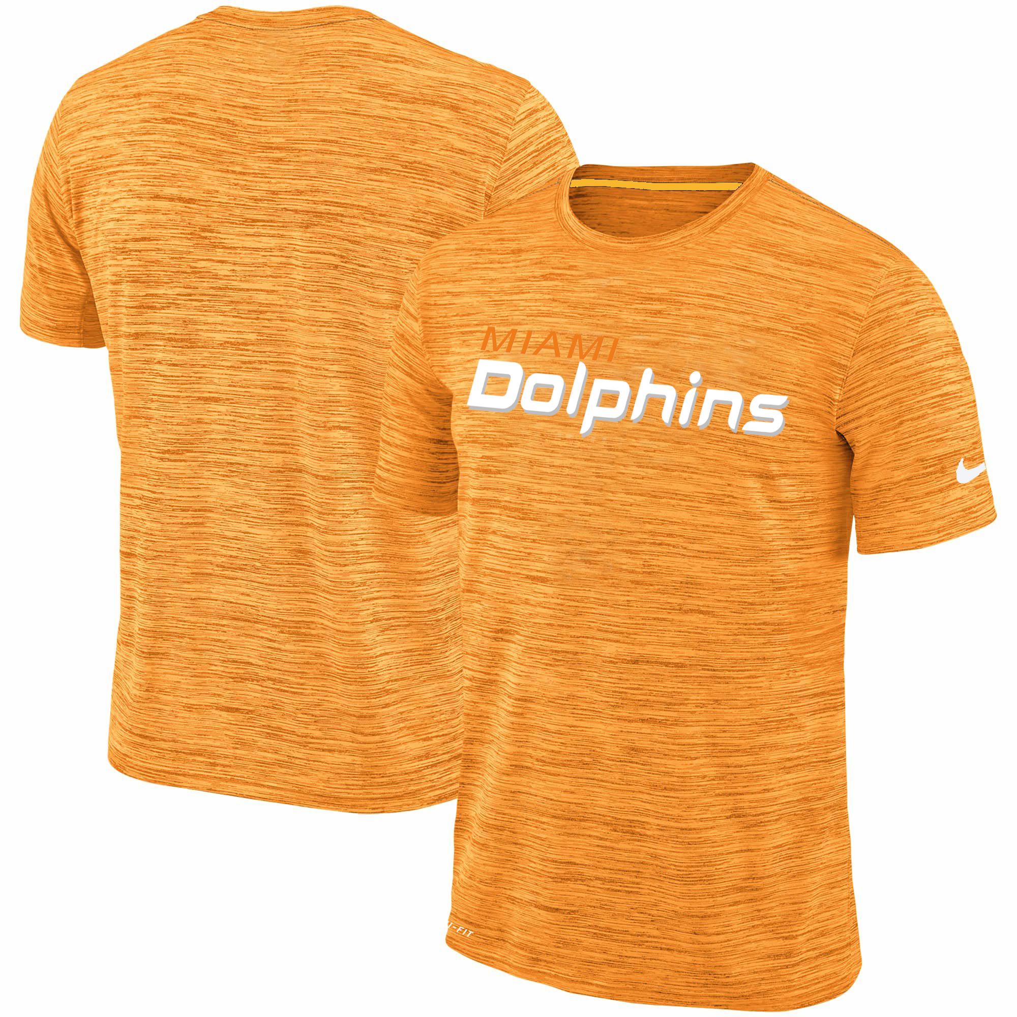 Men's Miami Dolphins Nike Orange Velocity Performance T-Shirt
