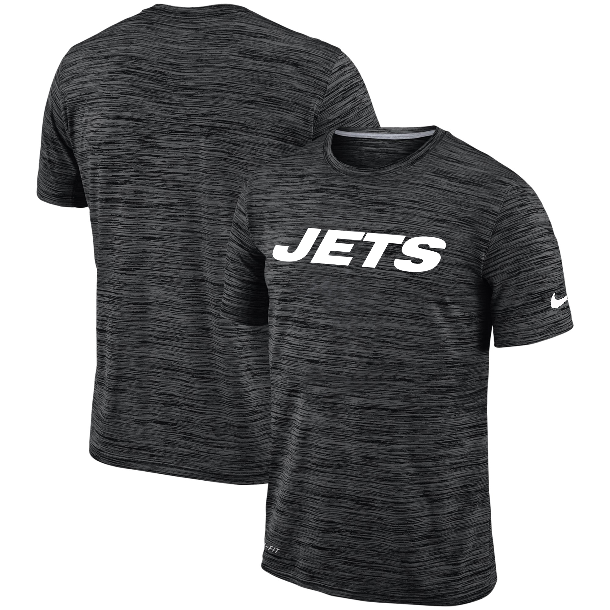 Men's New York Jets Nike Black Velocity Performance T-Shirt