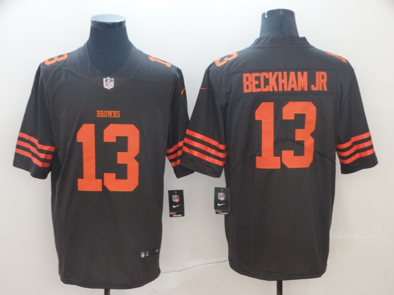 Nike Browns 13 Odell Beckham Jr Brown Color Rush Limited Jersey