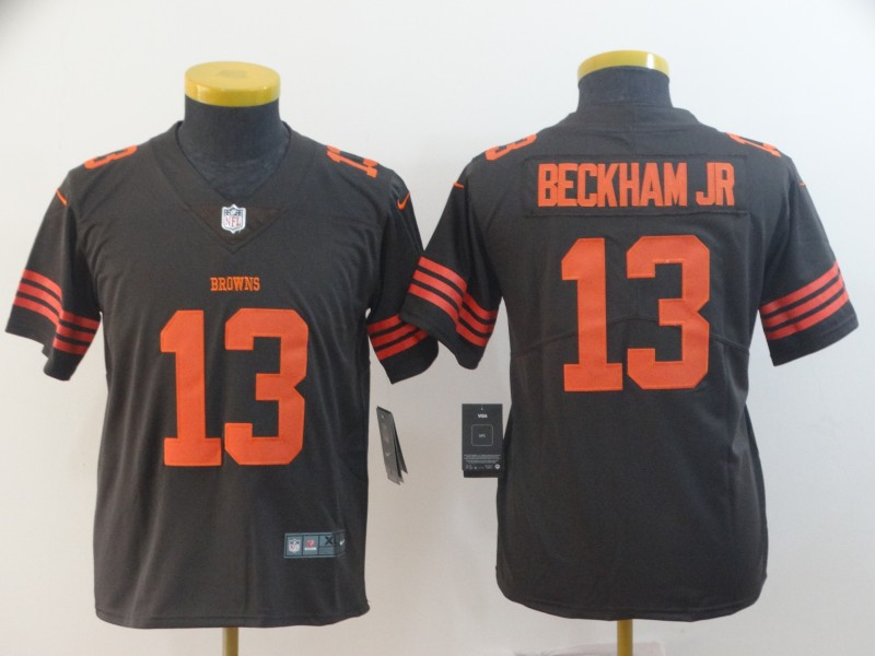 Nike Browns 13 Odell Beckham Jr Brown Youth Color Rush Limited Jersey