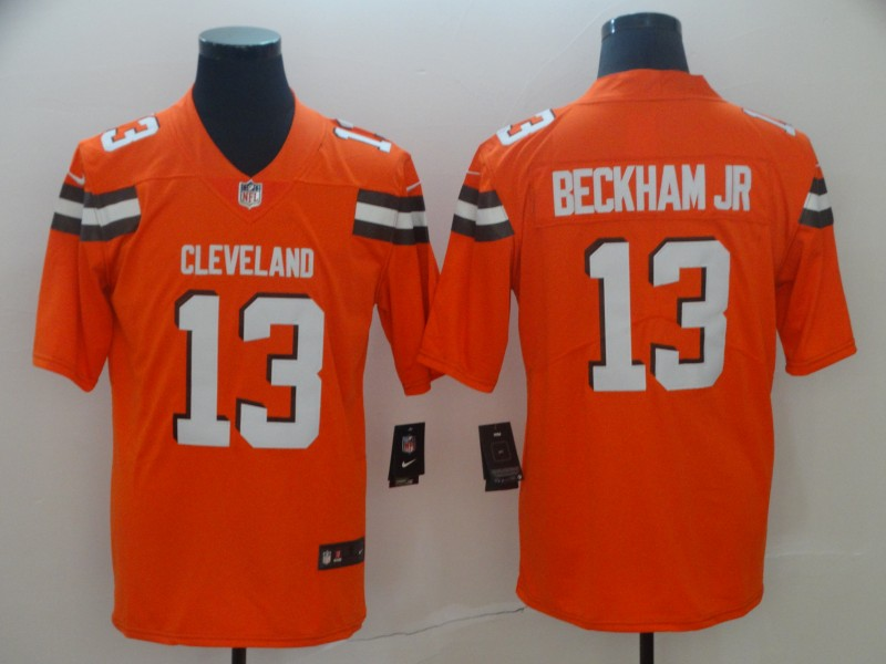 Nike Browns 13 Odell Beckham Jr Orange Vapor Untouchable Limited Jersey