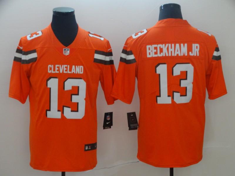 Nike Browns 13 Odell Beckham Jr Orange Vapor Untouchable Limited Jersey