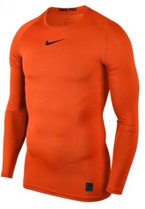 Men's Compression Base layer Body Armour Thermal Under Skin T-Shirt Orange