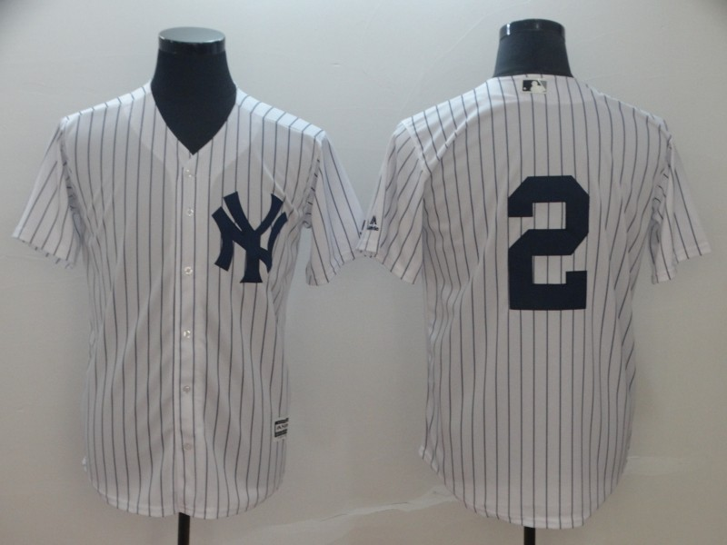 Yankees 2 Derek Jeter White Cool Base Jersey