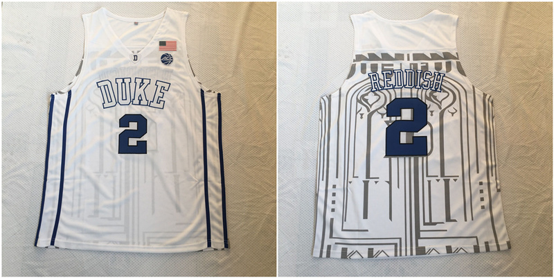 Duke Blue Devils 2 Cam Reddish White Nike College Basketball Jersey