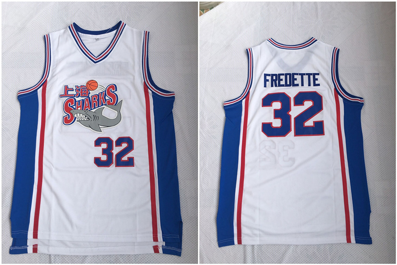 Shanghai Sharks 32 Jimmer Fredette White Stitched Basketball Jersey