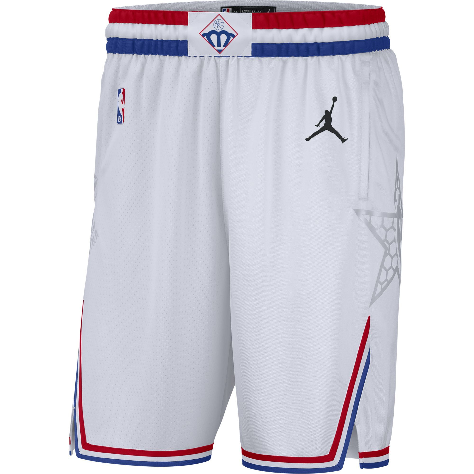 2019 NBA All-Star White Jordan Brand Swingman Shorts