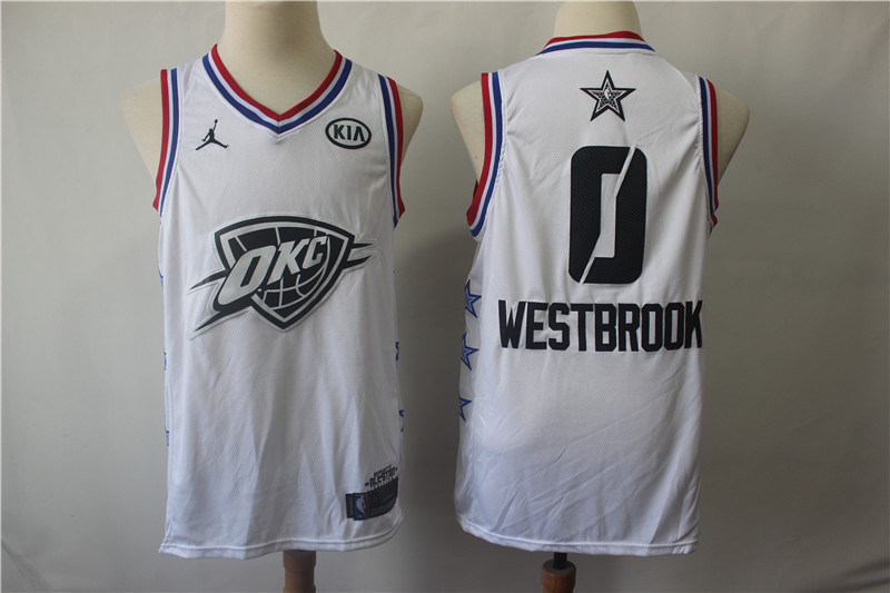 Thunder 0 Russell Westbrook White 2019 NBA All-Star Game Jordan Brand Swingman Jersey