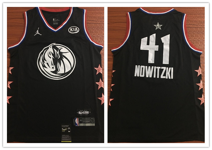 Mavericks 41 Dirk Nowitzki Black 2019 NBA All-Star Game Jordan Brand Swingman Jersey