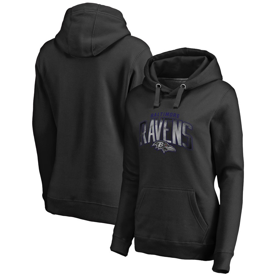 Baltimore Ravens NFL Pro Line by Fanatics Branded Women's Plus Size Arch Smoke Pullover Hoodie