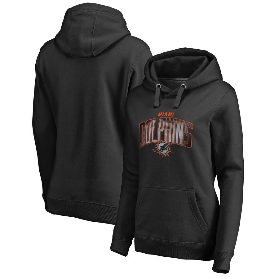 Miami Dolphins NFL Pro Line by Fanatics Branded Women's Plus Size Arch Smoke Pullover Hoodie