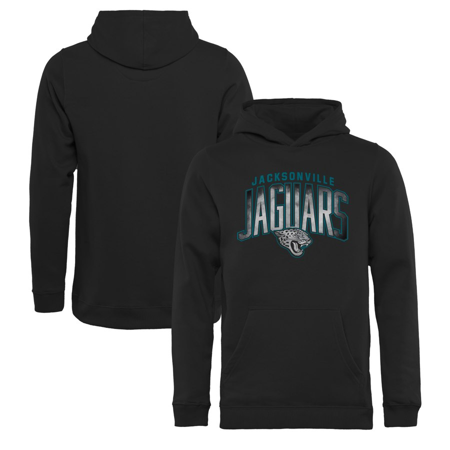 Jacksonville Jaguars NFL Pro Line by Fanatics Branded Youth Arch Smoke Pullover Hoodie Black