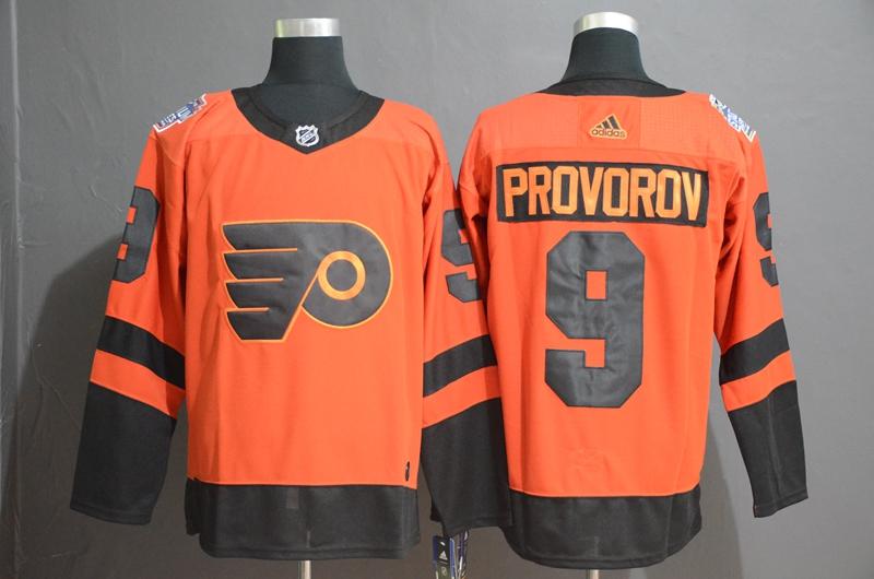 Flyers 9 Ivan Provorov Orange 2019 NHL Stadium Series Adidas Jersey