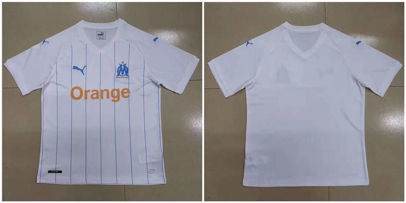 2019-20 Marseille Home Thailand Soccer Jersey