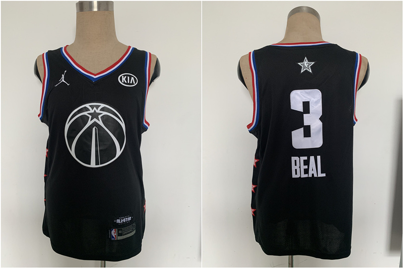 Wizards 3 Bradley Beal Black 2019 NBA All-Star Game Jordan Brand Swingman Jersey