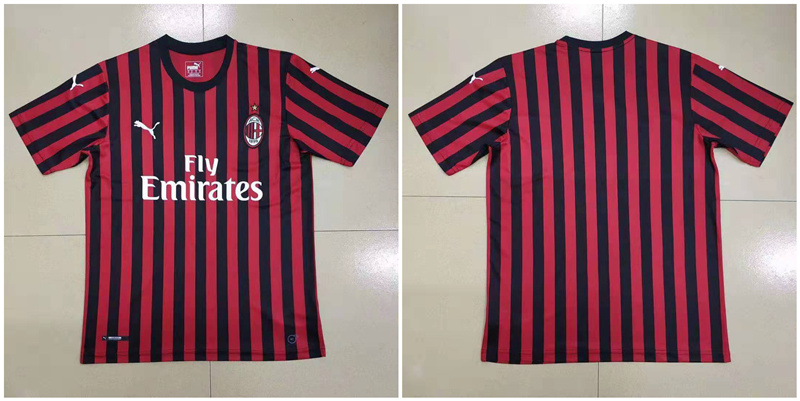 2019-20 AC Milan Home Thailand Soccer Jersey