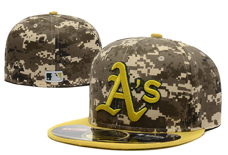 Athletics Team Logo Camo Fitted Hat LX