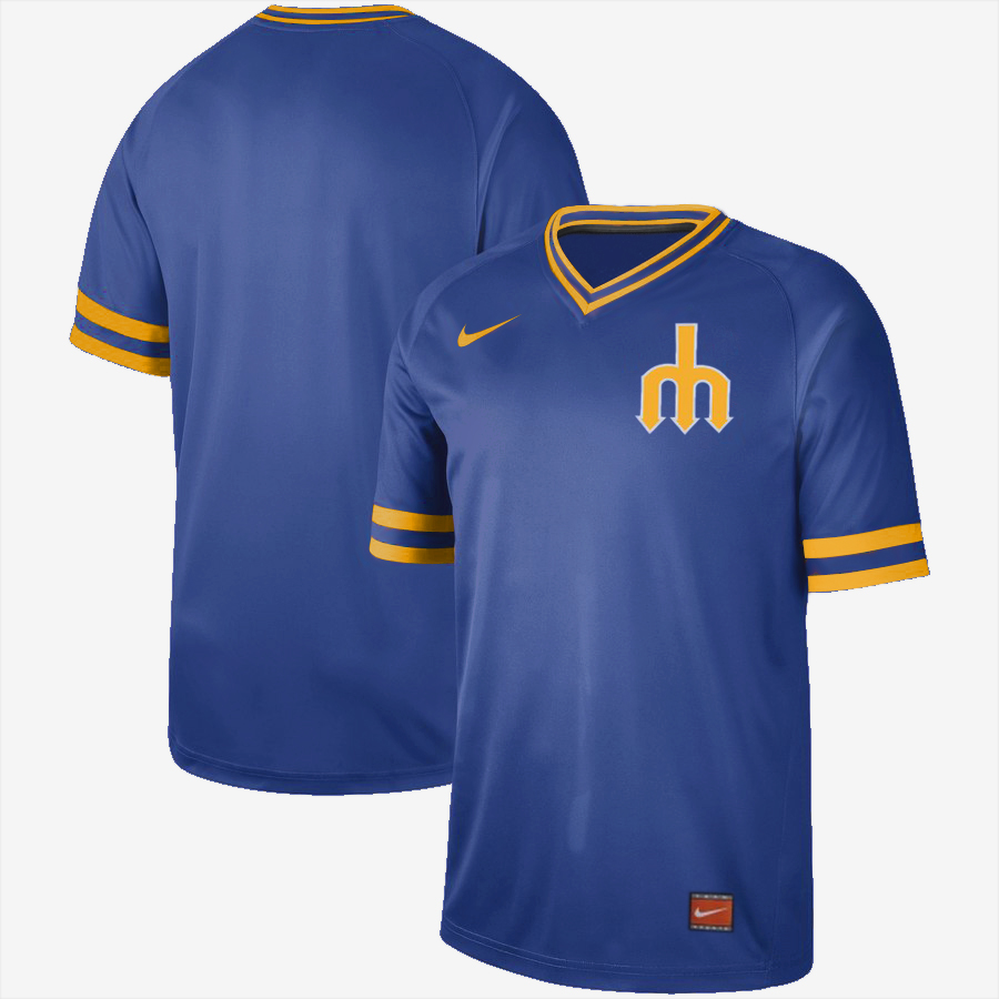 Mariners Blank Blue Throwback Jersey