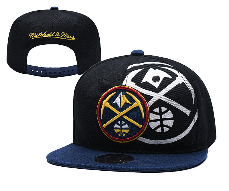 Nuggets Team Logo Black Mitchell & Ness Adjustable Hat YD