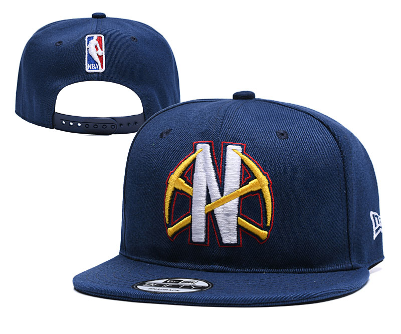 Nuggets Team Logo Navy Adjustable Hat YD