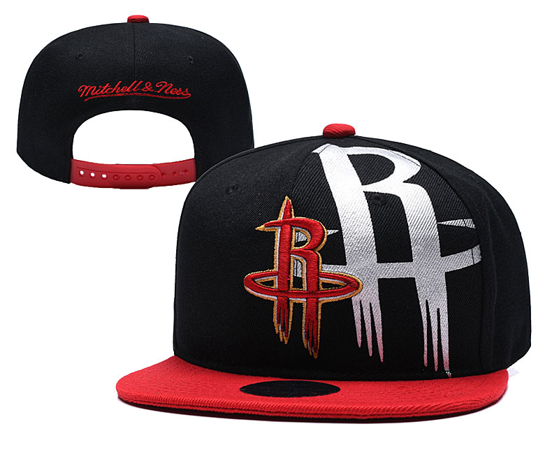 Rockets Team Logo Black Mitchell & Ness Adjustable Hat YD