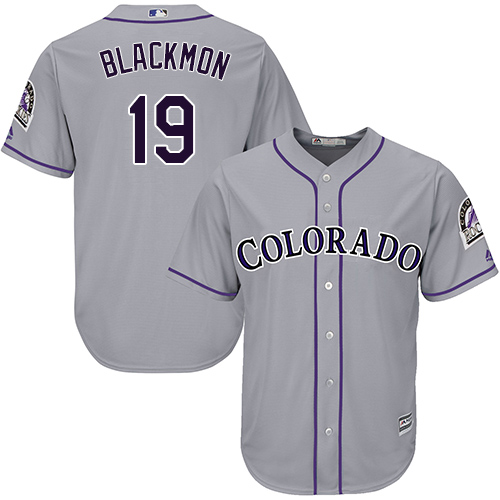 Rockies 19 Charlie Blackmon Gray Cool Base Jersey