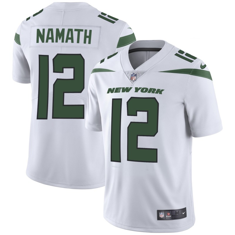Nike Jets 12 Joe Namath White New 2019 Vapor Untouchable Limited Jersey