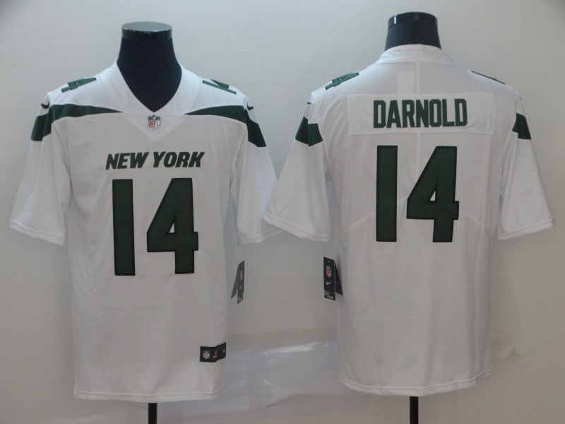 Nike Jets 14 Sam Darnold White New 2019 Vapor Untouchable Limited Jersey