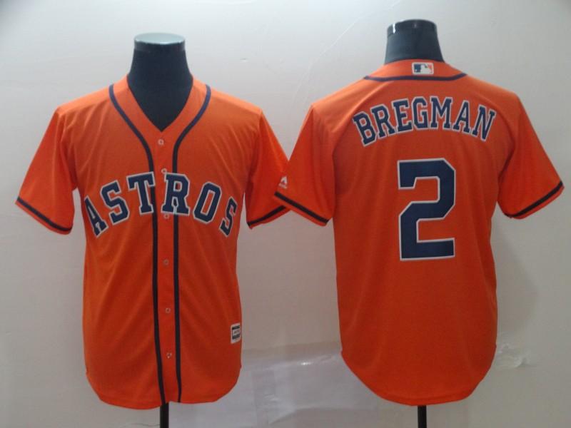 Astros 2 Alex Bregman Orange Cool Base Jersey