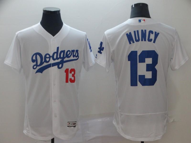 Dodgers 13 Max Muncy White Flexbase Jersey