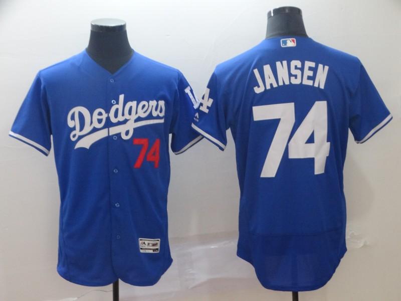 Dodgers 74 Kenley Jansen Royal Flexbase Jersey