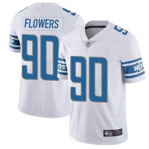 Nike Lions 90 Trey Flowers White Vapor Untouchable Limited Jersey