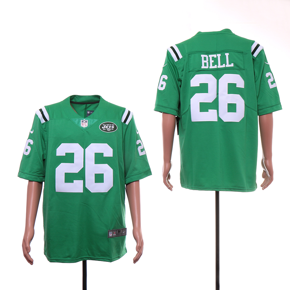 Nike Jets 26 Le'Veon Bell Green Color Rush Limited Jersey