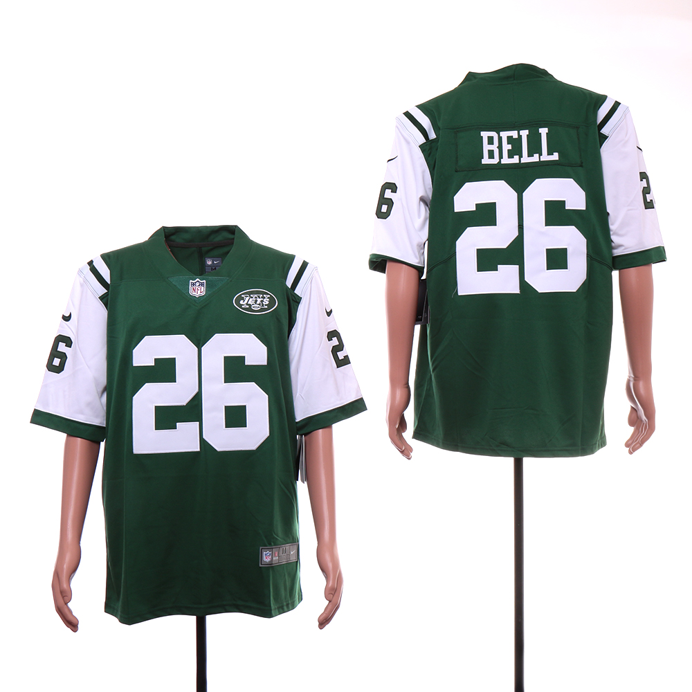 Nike Jets 26 Le'Veon Bell Green Vapor Untouchable Limited Jersey