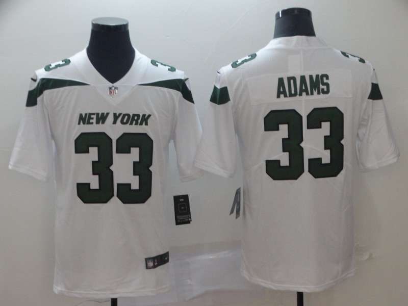 Nike Jets 33 Jamal Adams White New 2019 Vapor Untouchable Limited Jersey