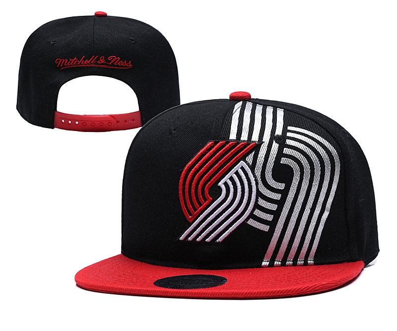 Blazers Team Logo Black Mitchell & Ness Adjustable Hat YD