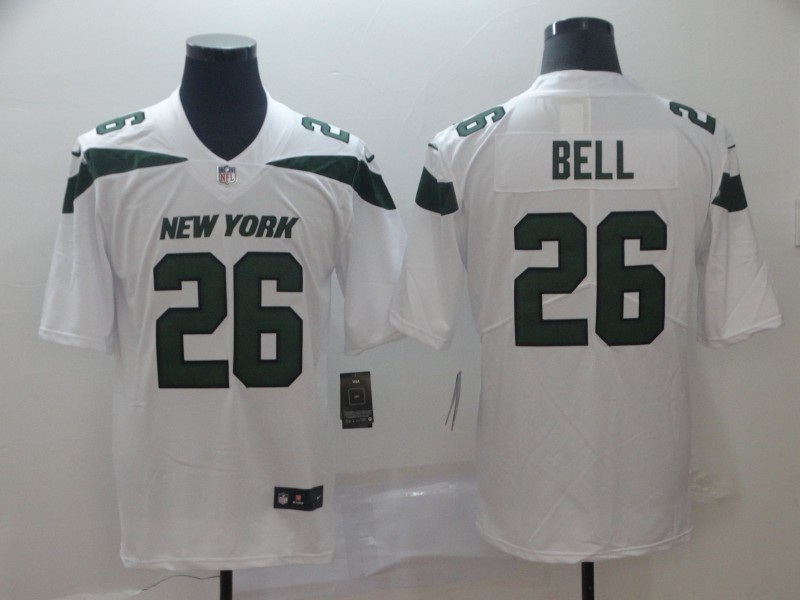 Nike Jets 26 Le'Veon Bell White New 2019 Vapor Untouchable Limited Jersey