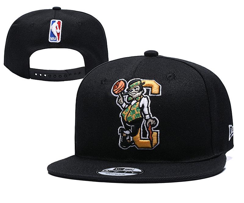 Celtics Team Logo Black Adjustable Hat YD