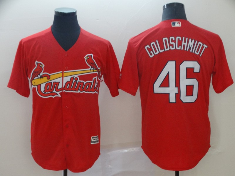 Cardinals 46 Paul Goldschmidt Red Cool Base Jersey