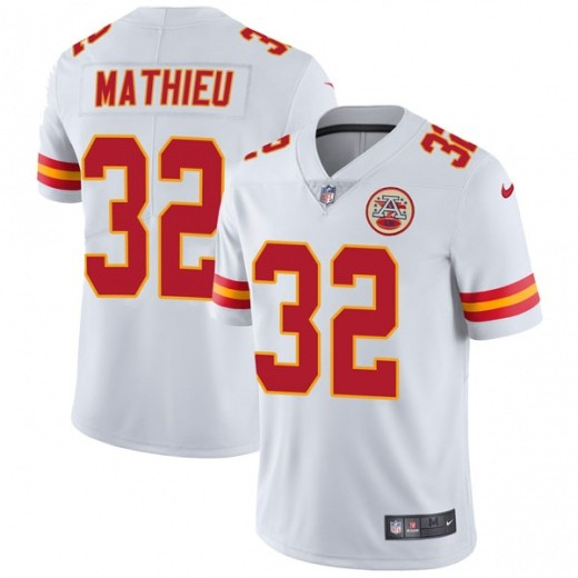 Chiefs 32 Tyrann Mathieu White Vapor Untouchable Limited Jersey