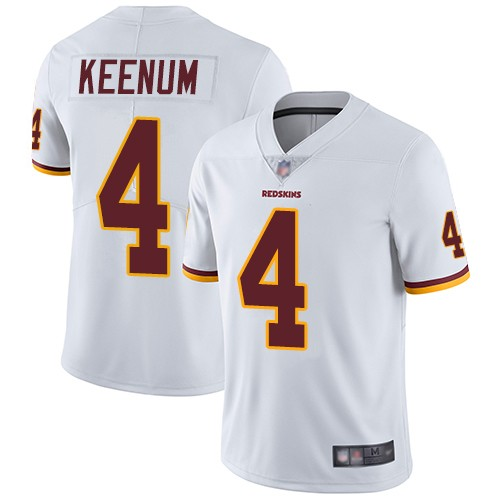 Redskins 4 Case Keenum White Vapor Untouchable Limited Jersey