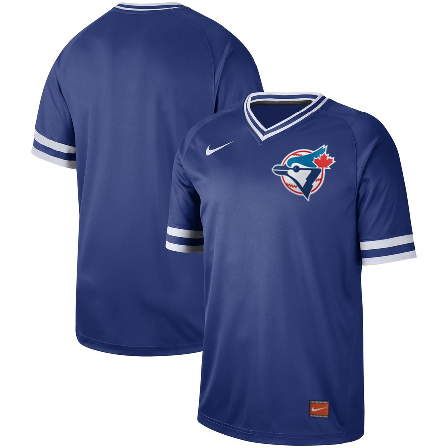 Blue Jays Blank Royal Throwback Jersey
