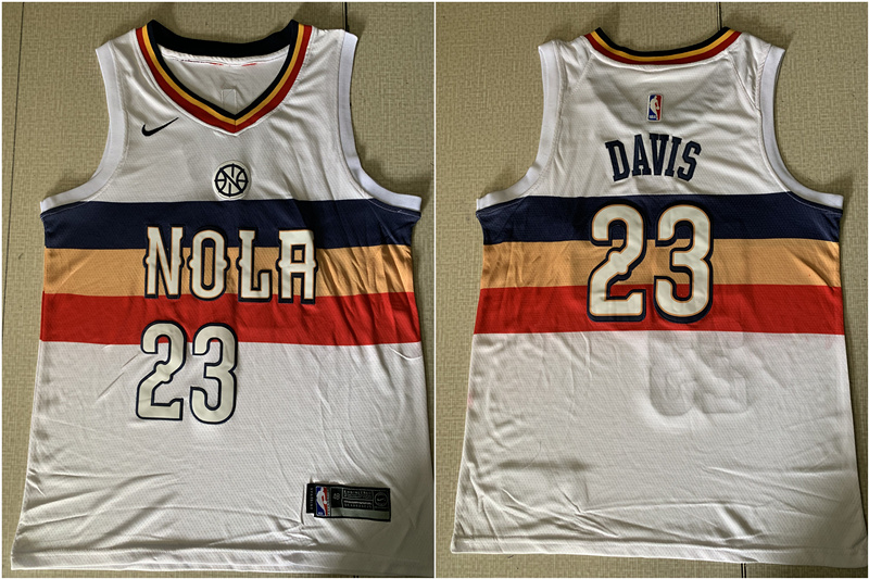 Pelicans 23 Anthony Davis White Earned Edition Nike Swingman Jersey