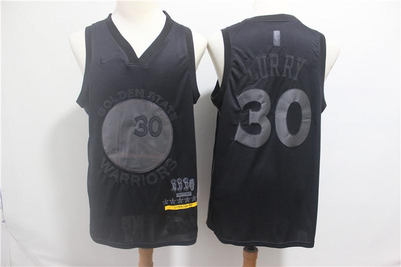 Warriors 30 Stephen Curry Black Nike Swingman MVP Jersey