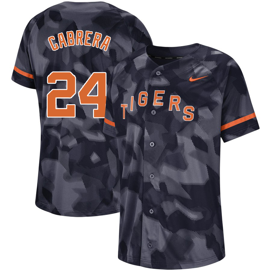 Tigers 24 Miguel Cabrera Royal Camo Fashion Jersey